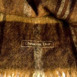 Christian Dior wool scarf